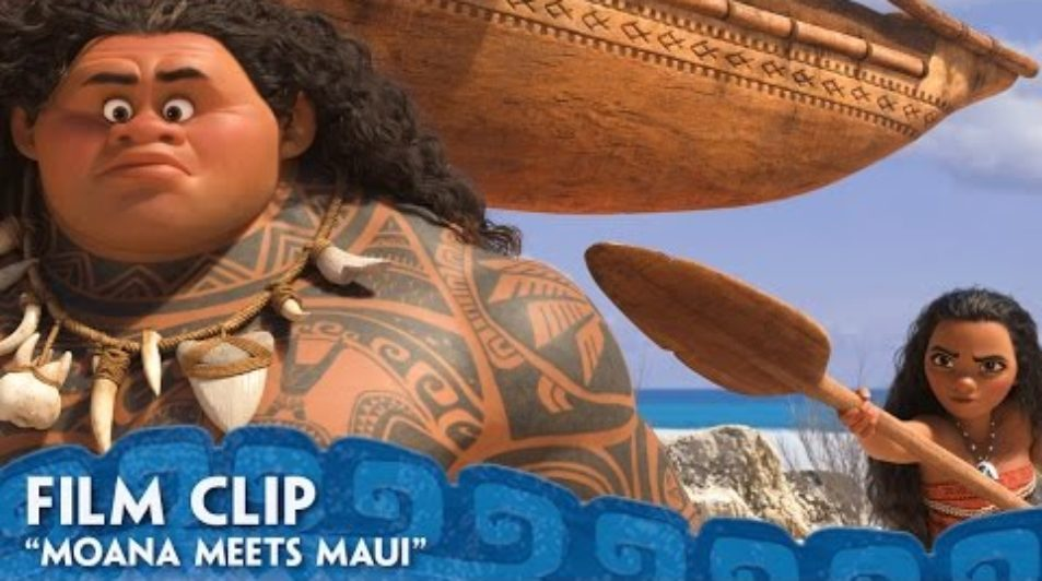 """Moana Meets Maui"" Clip – Moana – Walt Disney Animated Movies"