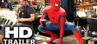 "Spider-man Homecoming ""Peter and Stan Lee Grab Starbucks"" Trailer (2017) Prank, Tom Holland Movie HD"