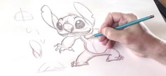 How To Draw Stitch l #DrawWithDisneyAnimation