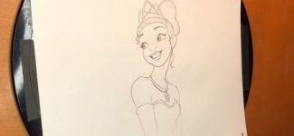 How to Draw Tiana from The Princess and the Frog l #DrawWithDisneyAnimation