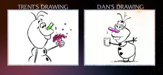 Olaf Draw-Off l Once Upon a Snowman l Disney+